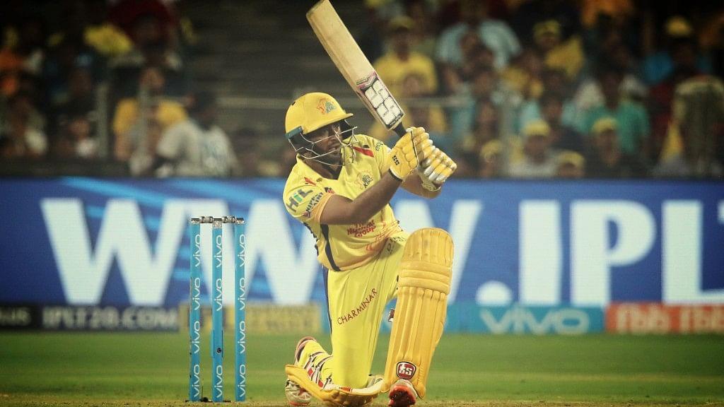 Chennai Super Kings' Ambati Rayudu in action against Delhi Daredevils.