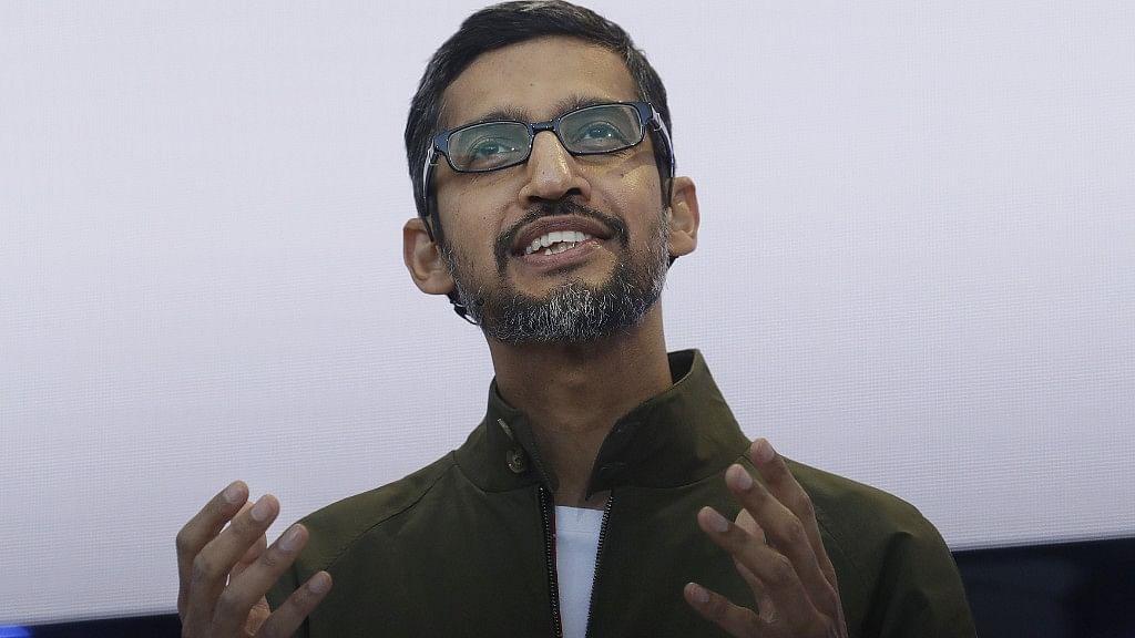 Sundar Pichai, CEO, Google.