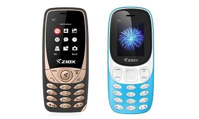 Ziox X7 and Ziox X3 phones.
