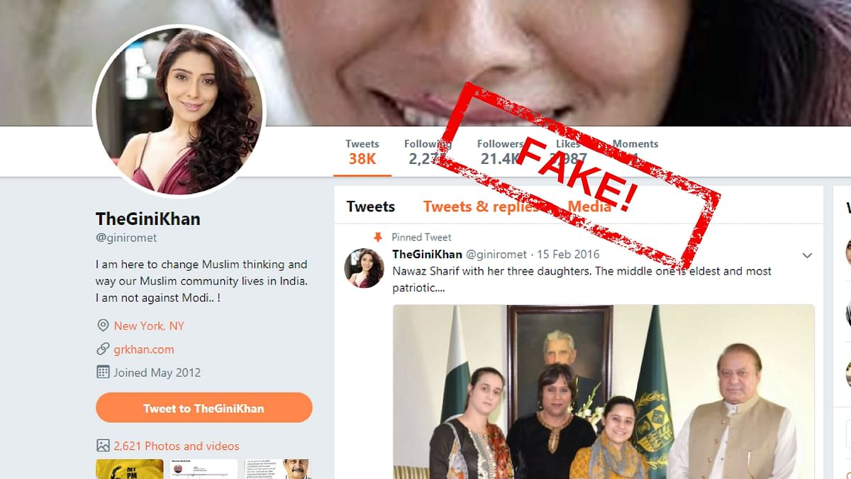 """Meet Gini Khan, or <a href=""""https://twitter.com/giniromet"""">@giniromet</a>, a fake social media profile with a muslim identity that tweets about how PM Modi is """"the most loved PM India has ever had,"""" and conducts polls against muslims."""