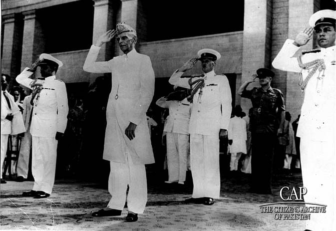 File photo of Jinnah at a state ceremony.