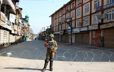 Restrictions in Srinagar to prevent protests. (File Photo: IANS)