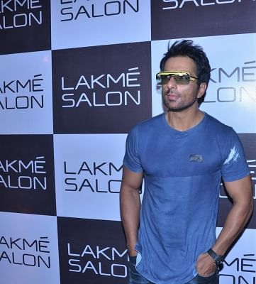 Caption: Mumbai: Actor Sonu Sood during inauguration of a salon in Mumbai