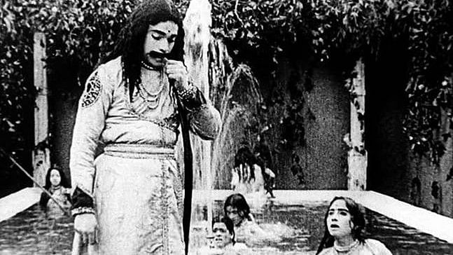 A still from <i>Raja Harishchandra</i>, India's first feature film.