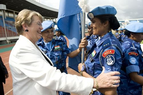 India's Female Formed Police Unit in Liberia has especially been lauded and awarded.