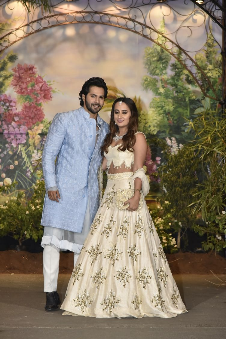 Varun Dhawan makes a rare appearance with rumoured girlfriend Natasha Dalal.