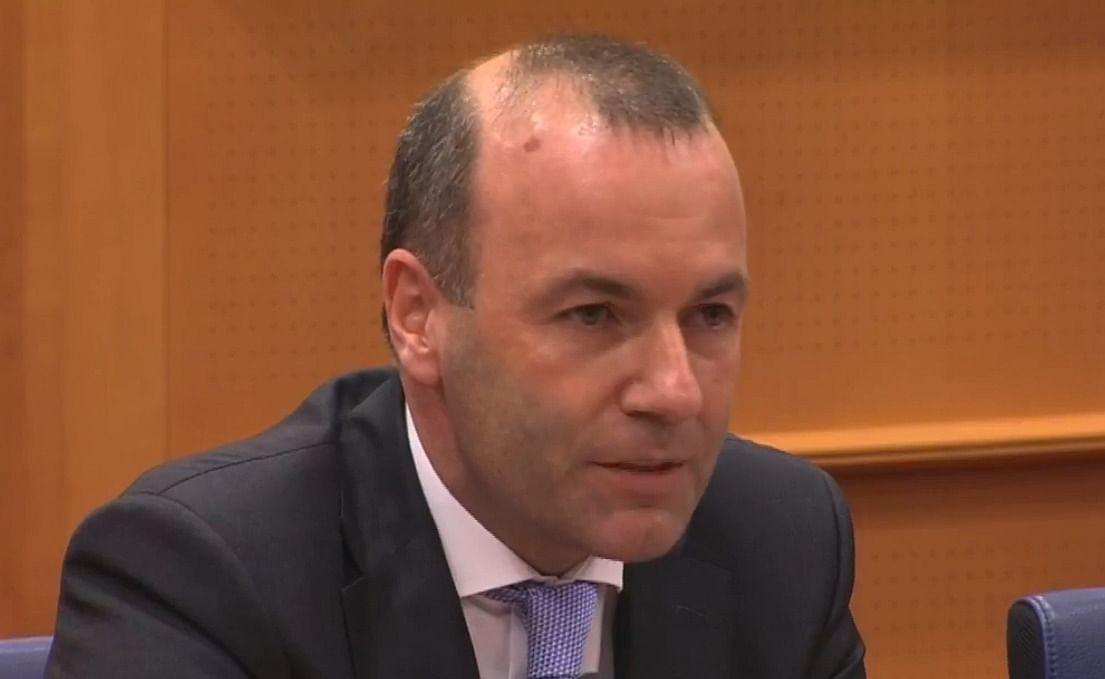 Manfred Weber, MEP, Germany asking his question.