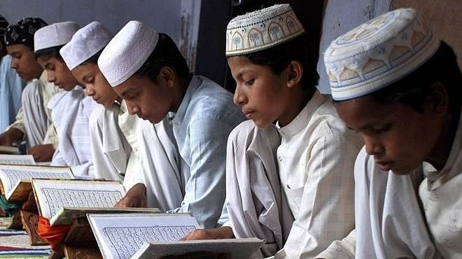 File picture of students in a madrassa.