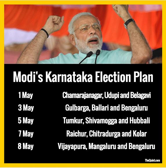 PM Modi Ups Ante, To Address 21 Rallies in Karnataka Instead of 15