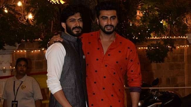 Arjun Kapoor and Harshvardhan Kapoor at one of the pre-wedding ceremonies of Sonam and Anand.