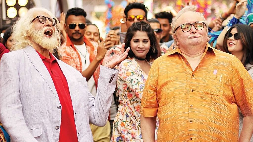 Well played! Amitabh Bachchan and Rishi Kapoor in <i>102 Not Out.</i>