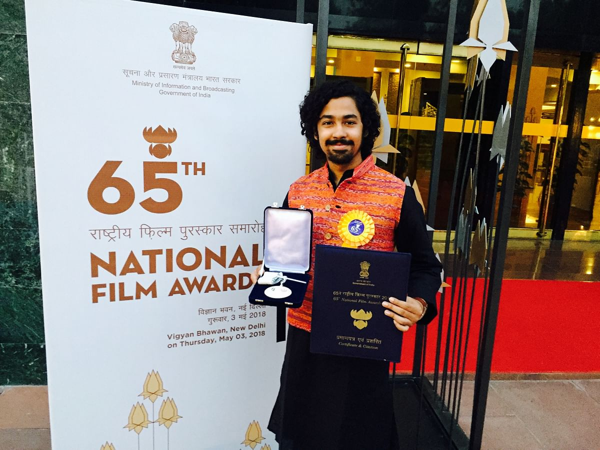 Riddhi Sen with his National Award.