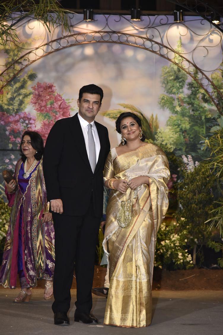 Siddharth Kapoor and Vidya Balan make it to the reception.