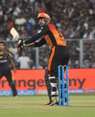 Kolkata: Rashid Khan of Sunrisers Hyderabad in action during the Qualifier 2 match of IPL 2018 between Sunrisers Hyderabad and Kolkata Knight Riders at the Eden Gardens in Kolkata, on May 25, 2018. (Photo: Kuntal Chakrabarty/IANS)
