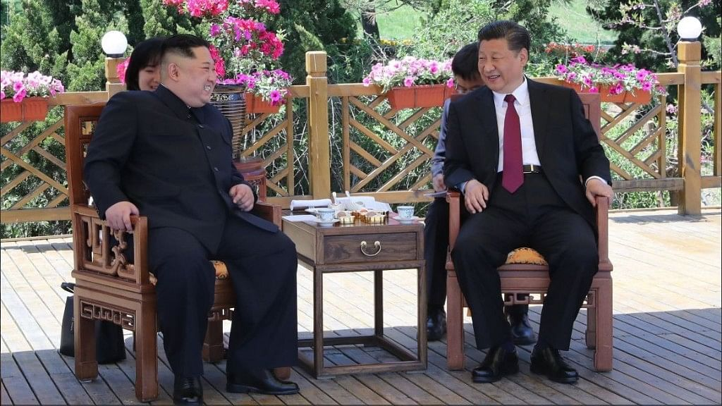 President Xi Jinping has met with North Korean leader Kim Jong Un in a northern Chinese port city on Tuesday.