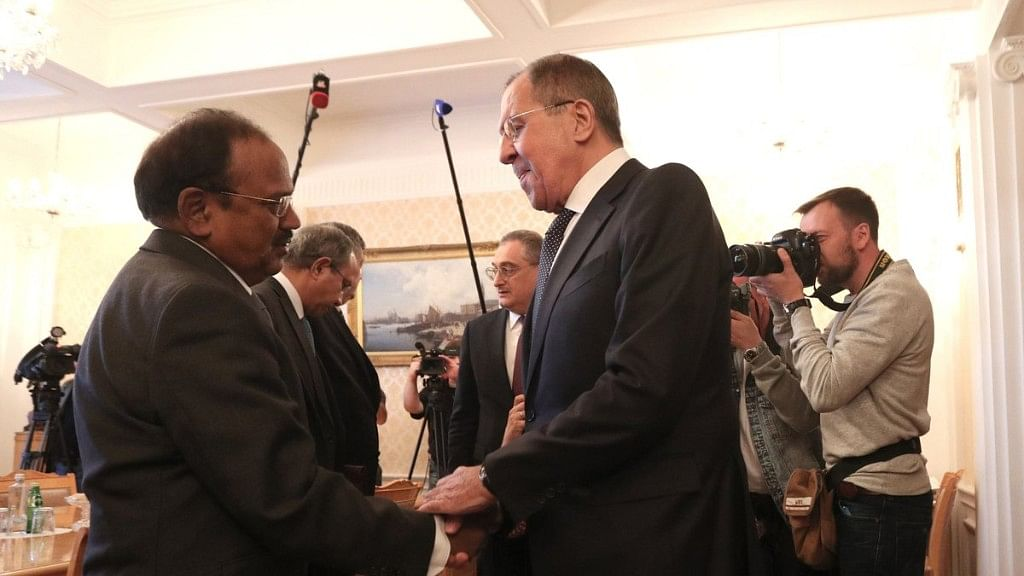 Ajit Doval Meets Russian Foreign Minister Sergei Lavrov in Moscow