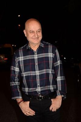 Mumbai: Actor Anupam Kher seen at actor Anil Kapoor