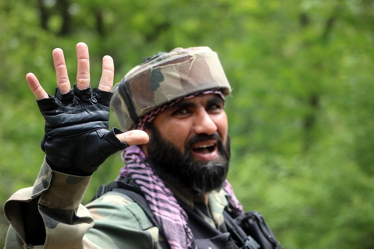 Security forces gunned down five militants in the gun battle in Shopian.