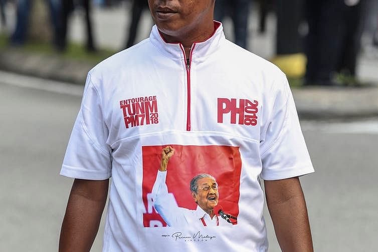 A supporter of Mahathir Mohamad, out and proud.