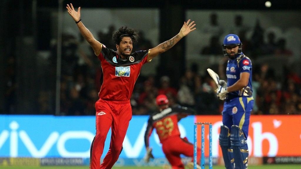 Umesh Yadav dismisssed  Suryakumar Yadav (9) and Mumbai Indians skipper Rohit Sharma (0) in successive balls.