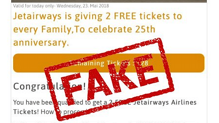 Viral WhatsApp Message on Jet Airways Giving Free Tickets Is Fake