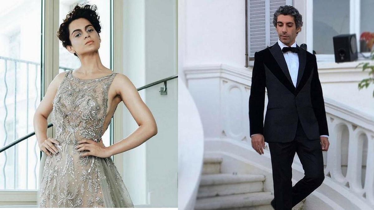 Kangana Ranaut and Jim Sarbh at Cannes.
