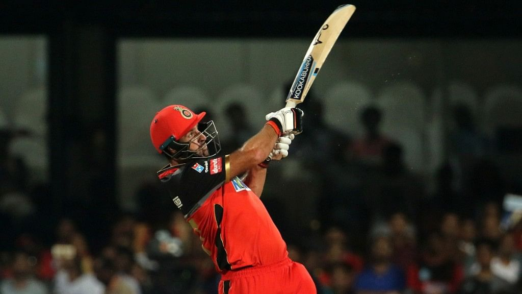 Royal Challengers Bangalore's Colin de Grandhomme (23 from 10) hit three sixes in the last over.