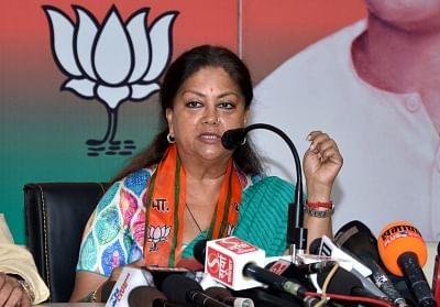 Rajasthan Chief Minister Vasundhara Raje. (Photo: Ravi Shankar Vyas/IANS)