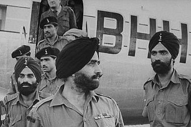 Indian troop deployed during the crisis in Vietnam, Cambodia and Laos