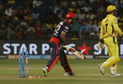 Pune: Glenn Maxwell of Delhi Daredevils in action during an IPL 2018 match between Chennai Super Kings and Delhi Daredevils, at Maharashtra Cricket Association Stadium in Pune on April 30, 2018. (Photo: IANS)