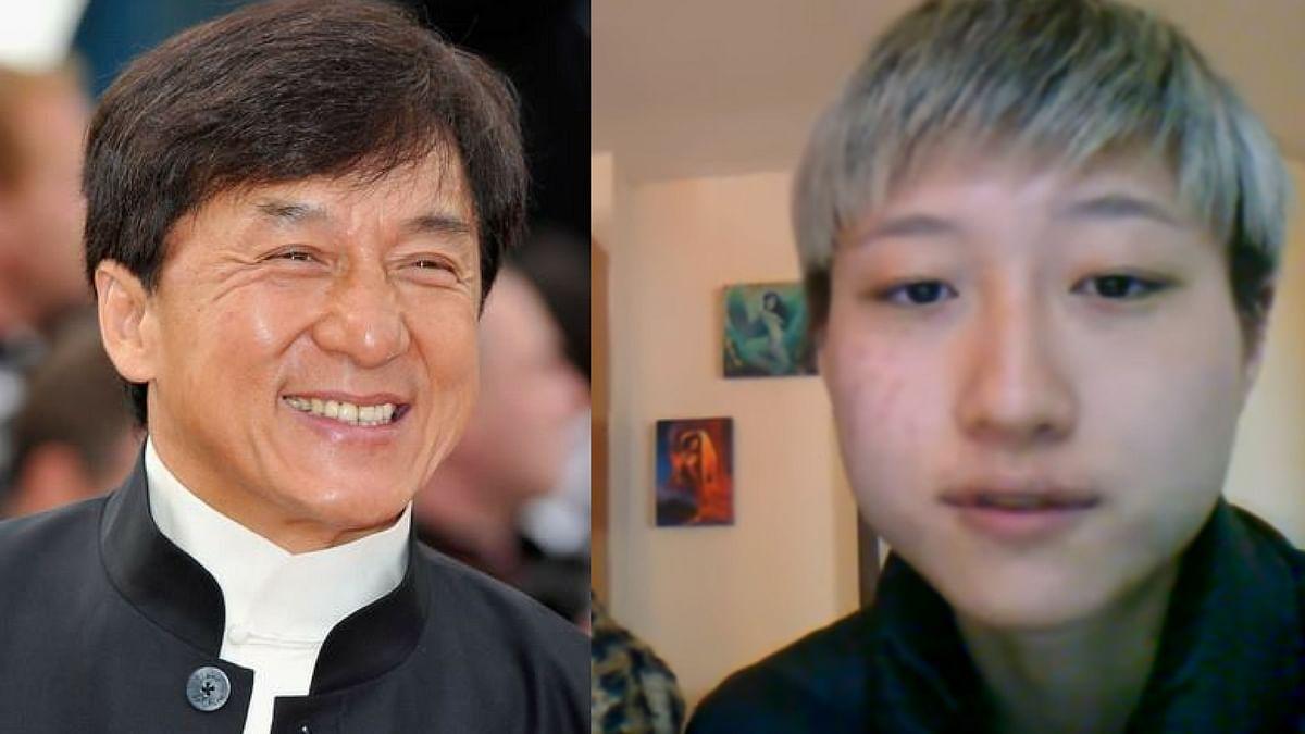 Jacke Chan and his estranged daughter Etta Ng.
