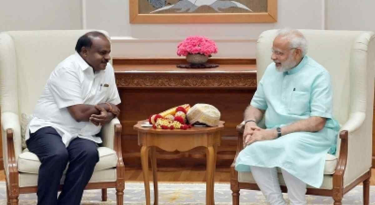 Kumaraswamy Meets Modi