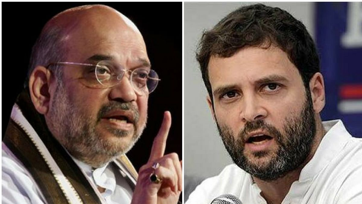 """Amit Shah wasted no time in hitting back at Rahul Gandhi on Twitter, reminding him of the Congress' """"glorious history""""."""