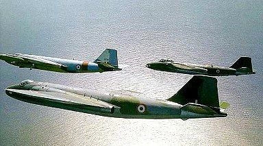 Canberra Bomber aircrafts of the IAF.