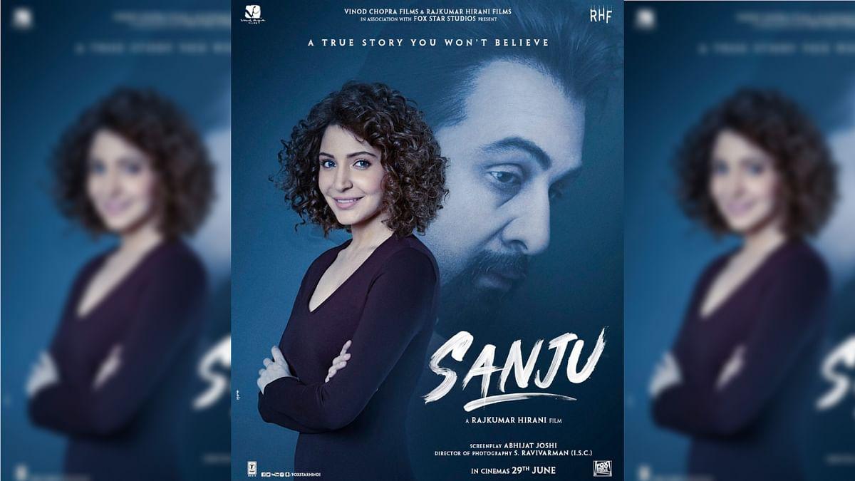 Anushka Sharma's look from the Ranbir Kapoor starrer, <i>Sanju</i>.&nbsp;