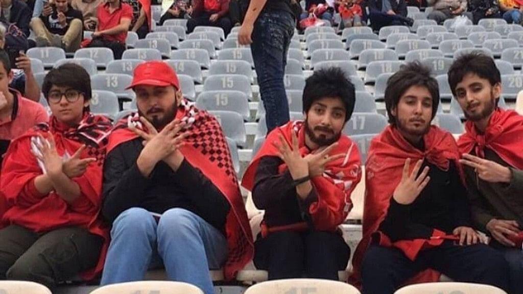 Iranian women dressed as men to attend a soccer match.
