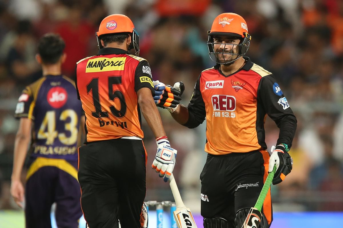 Not just the ball, Rashid Khan contributed with the bat as well during Sunrisers' match against KKR on Friday.