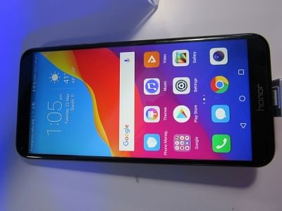 New Delhi: A Huawei Honor smatphone on display during the launch of Huawei Honor 7A and Honor 7C smartphones, in New Delhi on May 22, 2018. (Photo: IANS)