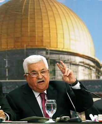 Palestinian President Mahmoud Abbas. (Xinhua/Ayman Nobani/IANS)