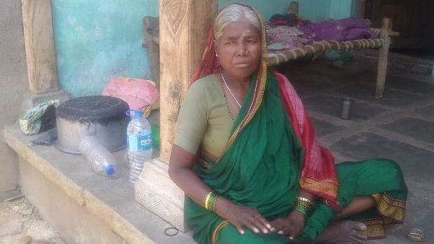 Chennamma, 55, works as an agricultural labourer in Nadihal, Yadgir. Her husband, Hanumanthappa, 60, committed suicide this March due to farm debt.