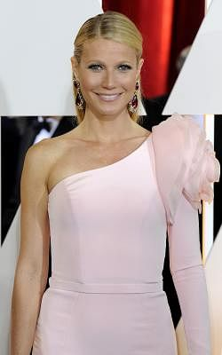 LOS ANGELES, Feb. 23, 2015 (Xinhua) -- Gwyneth Paltrow arrives for the red carpet of the 87th Academy Awards at the Dolby Theater in Los Angeles, the United States, on Feb. 22, 2015. (Xinhua/Yang Lei/IANS)
