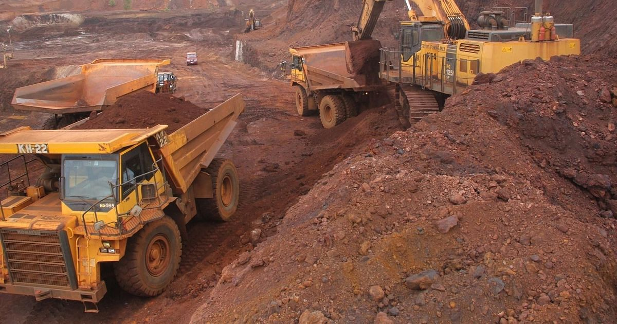 Iron ore mining operations in Goa