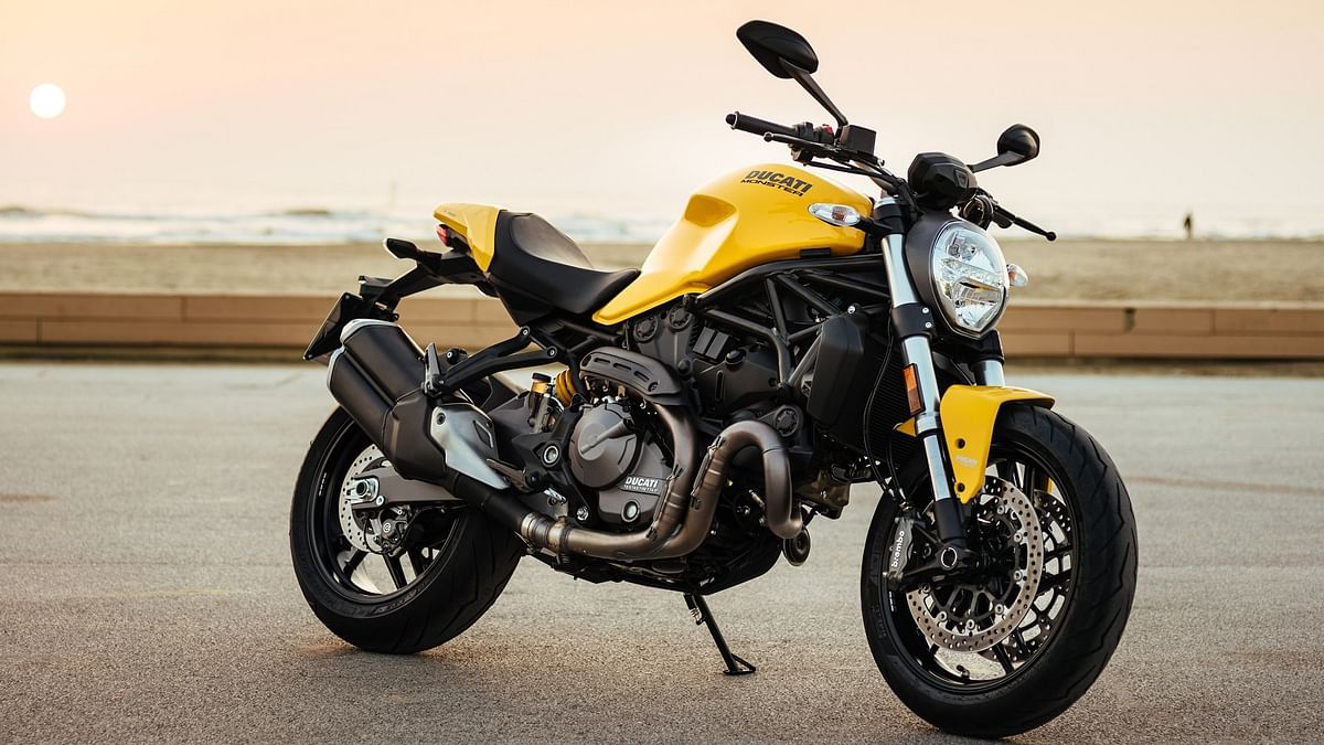 The Ducati Monster 821 comes in three colours – red, yellow and matt black.