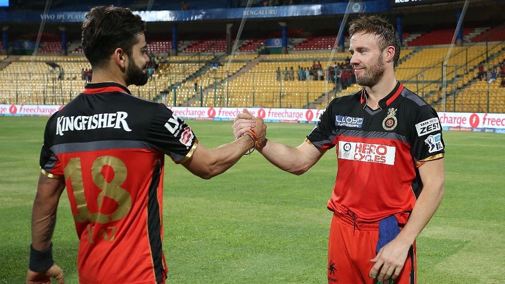 Virat Kohli and AB de Villiers.