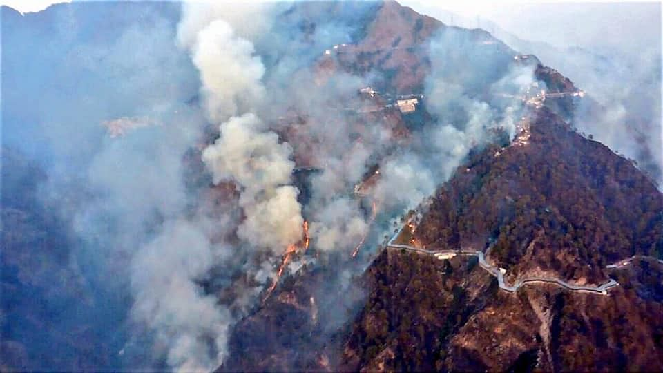 10,000 Pilgrims Stranded as Forest Fire Breaks Out in Katra