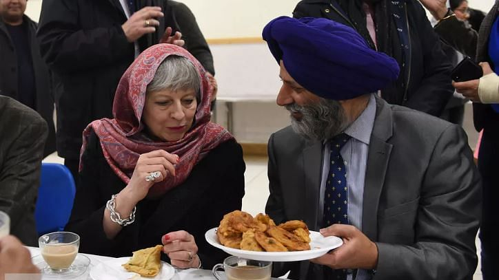 Prime minister Theresa May attends a Vaisakhi celebration.