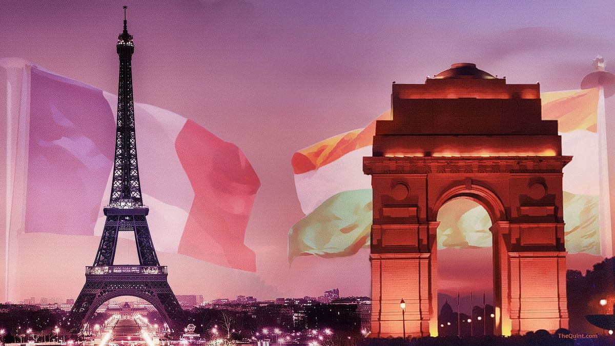 Representative image of India-France relations.