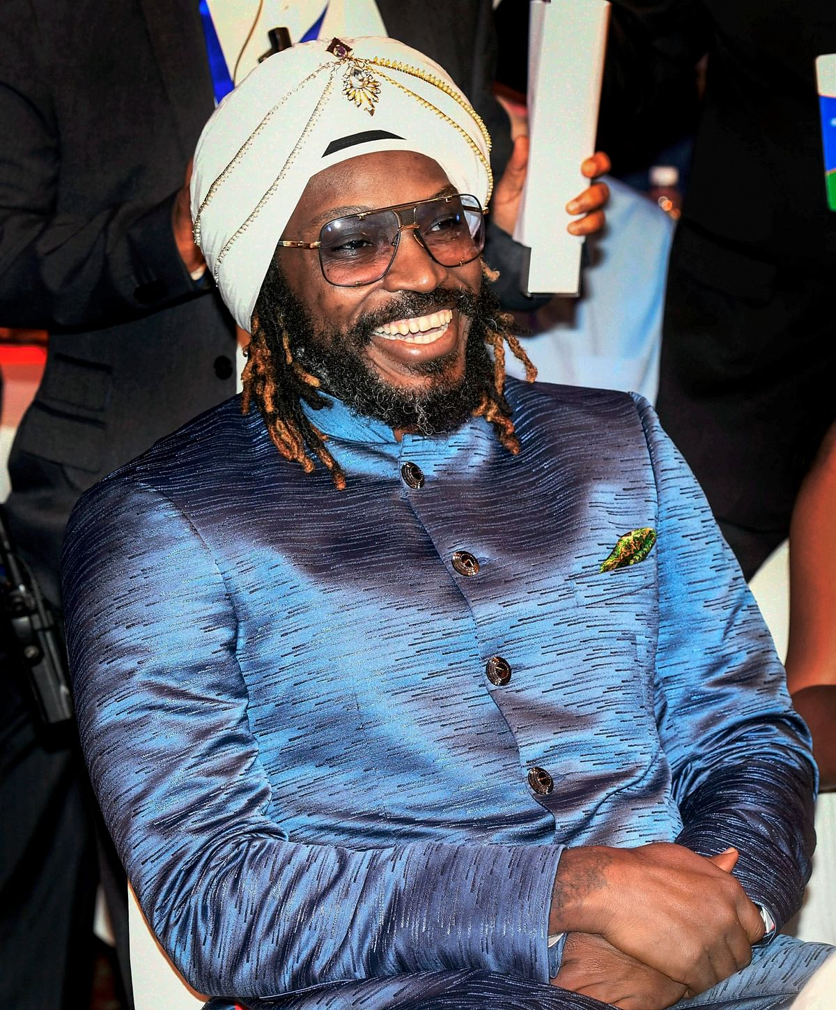 Chris Gayle  during the CEAT Awards.