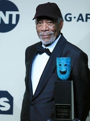 Actor Morgan Freeman. (File Photo: Xinhua/Li Ying/IANS)