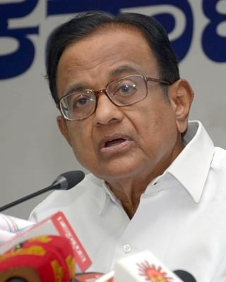 Bengaluru: Congress leader P Chidambaram addresses a press conference in Bengaluru on May 8, 2018. (Photo: IANS)